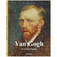 梵高画册 Van Gogh 英文原版 艺术大师梵高作品集 西方油画绘画 大师画册画集 精装大开本 走进梵高的世界 印象主义先驱 TASCHEN进口原版艺术画册书籍