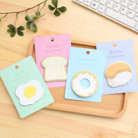 韩国文具 创意早餐便利贴 清新创意N次贴 办公记事留言便签贴