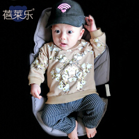 女婴儿卫衣0岁8个月男宝宝套头上衣春秋装秋季新款外出服
