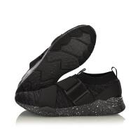李宁男鞋休闲鞋新款ExceedET透气一体织袜子鞋小黑鞋夏男士运动鞋AGCM059