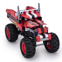 【1件6折 2件5折】跃高 标致 小颗粒拼装积木 科技机械系列 Y58409疯狂卡车