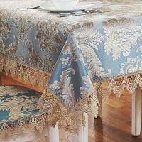 欧式茶几桌布布艺长方形客厅家用餐桌布方桌正方形台布椅垫椅套T