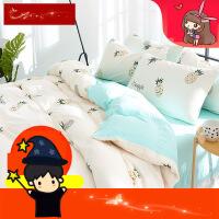 床上四件套公主风纯棉全棉1.8m床双人床单三件套床上用品宿舍1.5 i7a