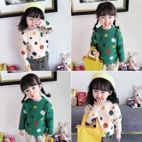 女童毛衣新款秋装儿童洋气套头针织衫秋冬打底衫