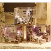 diy小屋公主房子模型别墅迷你玩具手工制作送男女生成人圣诞礼物