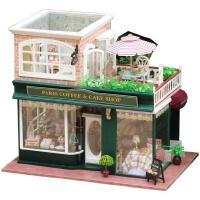 diy小屋 法国咖啡之旅手工建筑模型拼装玩具别墅送生日礼物男女生
