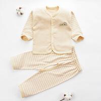 贝萌 新生儿衣服0-3月纯棉长袖秋季男女宝宝内衣套装 婴儿童秋衣秋裤
