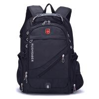 旅行双肩包男女大容量背包瑞士商务包休闲高中大学生书包