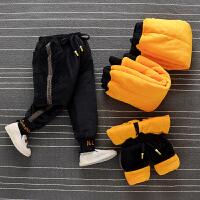 男童裤子秋冬款加绒厚儿童运动裤