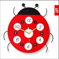卡通挂钟客厅个性创意时尚静音时钟儿童卧室装饰挂钟钟表 12英寸(直径30.5厘米)