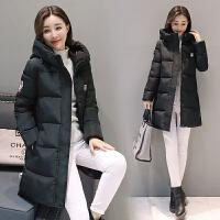 冬季棉衣女中长款加厚韩版修身连帽羽绒大码棉袄女装外套