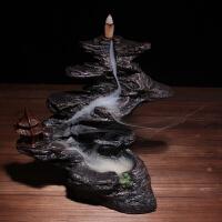 倒流香炉陶瓷观烟香炉熏香用品炉檀香炉香插香道大香炉人物摆件