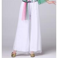 广场舞服装夏季 网纱长袖上衣阔腿裤舞蹈服演出服套装女