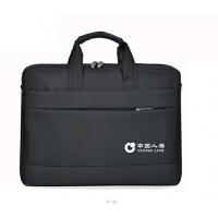 中国平安人寿新华太平泰康保险尼龙防水电脑展业包手提单肩斜跨包定制 15寸