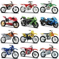 川崎本田摩托车模仿真合金原厂越野赛车车模型