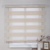 卷帘窗帘升降遮光卫生间厕所厨房卧室免打孔水手拉式百叶窗帘J 乳白色 b065-3 标价是一平方的价格,需要测量尺