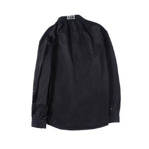 【限时抢购到手价:96元】AMAPO潮牌大码男装胖子肥佬加肥加大码宽松翻领印花长袖衬衫男潮