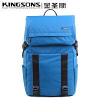 男笔记本双肩电脑包15.6寸韩版学生书包休闲背包 15寸