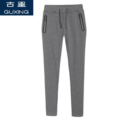 2018新款春秋女运动裤棉质休闲长裤 针织裤跑步运动卫裤