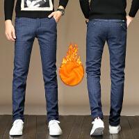 秋冬季休闲裤男加绒加厚长裤男装青年修身棉裤条纹弹力加绒裤子男