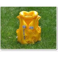 满百包邮INTEX游泳背心 儿童充气游泳衣 救生衣 三气囊安全