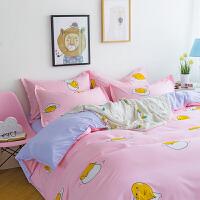 床单三件套床上用品3学生宿舍少女心ins单人女生可爱韩式冰丝裸睡