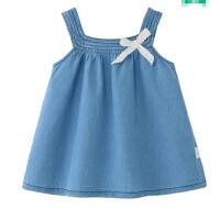 宝宝背心裙夏1-3岁裙子儿童夏装连衣裙婴儿公主裙5女童吊带牛仔裙