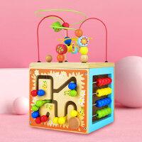可来赛儿童积木玩具绕珠百宝箱早教串珠积木男孩女孩智力木质串珠