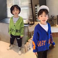 男童毛衣开衫春装新款儿童针织衫外套上衣