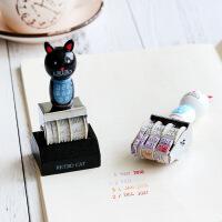 韩国文具日期印章可调年月日数字印章 财务办公用字高5mm手账工具