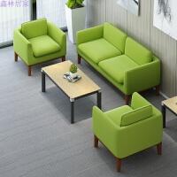布艺办公沙发洽谈接待室会客区现代简约三人位创意小型休闲时尚 1 1 3 (不含茶几)