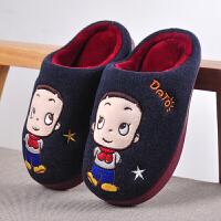 儿童棉拖鞋女童男童保暖毛毛居家可爱卡通小孩宝宝男孩小女孩托鞋