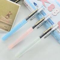 X88可替芯白雪直液式走珠笔裸色控清新范白雪中性笔签字笔水性笔