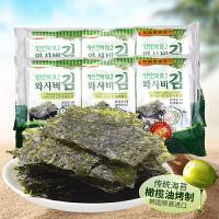 【满99减50元】韩国进口韩福10.2芥末味海苔13.5g
