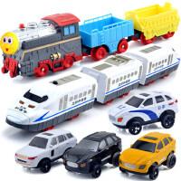 立昕拖马斯小火车头轨道车配件男孩子电动汽车警车和谐号儿童玩具