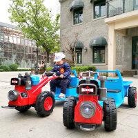 【支持礼品卡】儿童拖拉机可坐人电动车四轮汽车手扶双人男女宝宝抖音玩具车 1pc