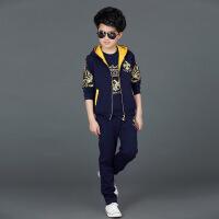 童装男童套装2018新款韩版儿童长袖马甲小男孩衣服三件套