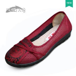 欣清2016新品老北京布鞋 女鞋单鞋夏时尚网面透气中老年妈妈鞋凉鞋奶奶鞋
