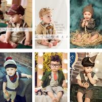 男宝宝周岁拍照服装1岁儿童照相衣服摄影写真艺术影楼服饰拍照服