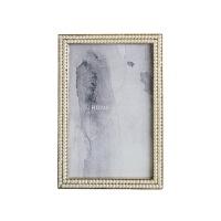 栀美家 欧式法式复古珍珠相框 6寸 创意婚纱照相框摆台 6寸