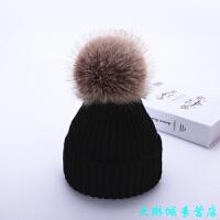宝宝帽子冬季儿童毛线帽 6个月-8岁1大毛球2男女童秋冬天婴儿帽子