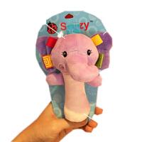 婴儿摇铃BB棒 毛绒布艺抓握棒宝宝手抓0-1岁捏捏叫手摇铃玩具 大象 捏的响 摇的响