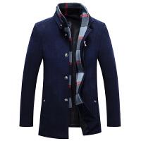 毛呢大衣男短款青年羊毛呢子外套立领英伦冬季加厚商务休闲修身型