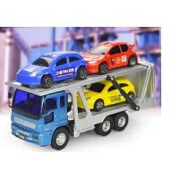 小型轿运车拖车双层运输车儿童惯性工程车玩具车轿车模型