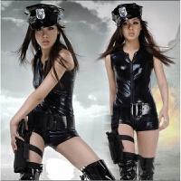 情趣睡衣制服诱惑 女警服游戏制服性趣内衣空姐女警 拔枪女警