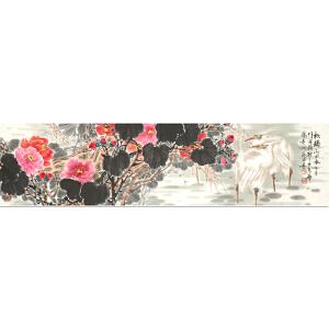 齐鲁书画院研究院画家 徐鸿海《秋韵》136cmx34cm