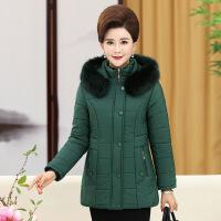 中年妈妈棉衣女短款40-50岁羽绒中老年冬装棉袄外套加绒加厚