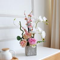 假花手感仿真蝴蝶兰套装假花盆栽装饰花餐桌家居客厅玄关摆件混合花艺