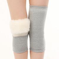 羊毛护膝 保暖老寒腿秋冬季男女士羊绒护腿袜套关节过膝盖皮毛一体