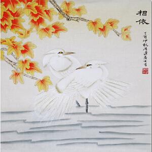 中国书画家协会会员、著名女画家刘翠莲老师――相依